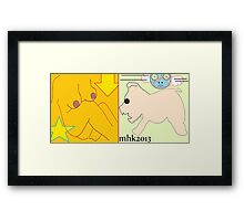 opening a can of worms with a barrel of monkeys on a red letter day in july 2 Framed Print