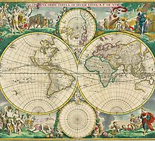 World Map 1670 by VintageLevel