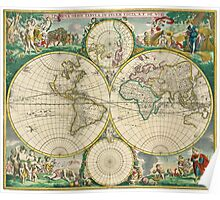 World Map 1670 Poster