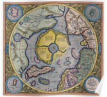 Map of the North Pole 1595 Poster