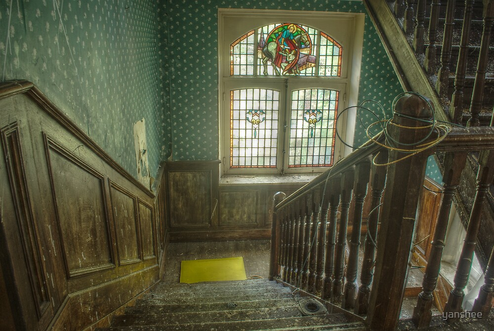 Stairs of the Villa Albanaise by yanshee