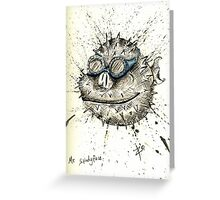 Mr Splody face Greeting Card