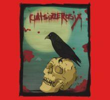 Crow, Skull, Blood Kids Tee