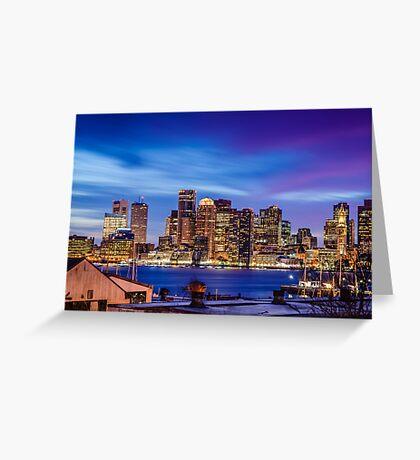 Boston colors Greeting Card