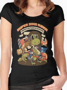 Super Dino Rider Women's Fitted Scoop T-Shirt