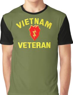 25th Infantry Div. Vietnam Veteran T-shirt Graphic T-Shirt