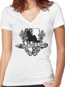 Evil League of Evil Black Women's Fitted V-Neck T-Shirt