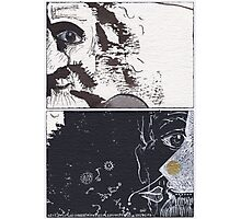 """ACEO - Series """"Mental Landscapes or Portraits"""" #13 : The old crazy man Photographic Print"""
