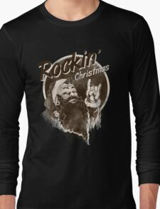 Rockin Christmas Santa Claus - X-Mas RAHMENLOS Long Sleeve T-Shirt