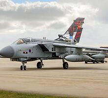 Dambusters Tornado GR.4 ZA412 taxies out by Colin Smedley