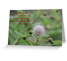 Happy is That People Whose God is the LORD! Greeting Card