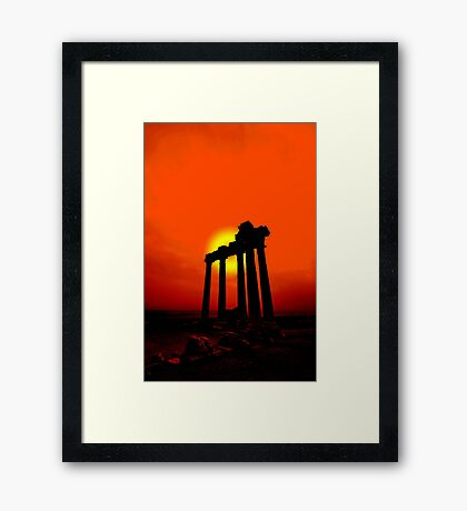 Greek Sunset Framed Print