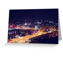 Night Bridge Greeting Card