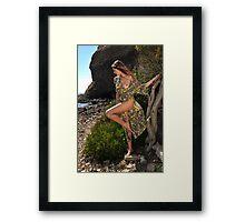 Sexy resort ware on location of CA coastline I Framed Print