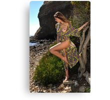 Sexy resort ware on location of CA coastline I Canvas Print