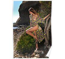 Sexy resort ware on location of CA coastline I Poster