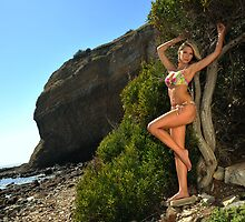 Sexy bikini on location of CA coastline  by Anton Oparin