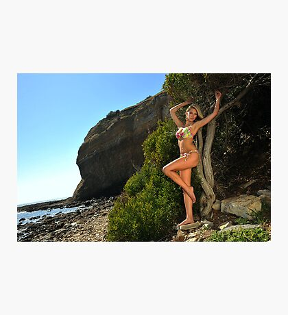 Sexy bikini on location of CA coastline  Photographic Print
