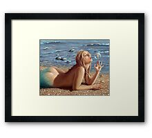 The Mermaid's friend Framed Print
