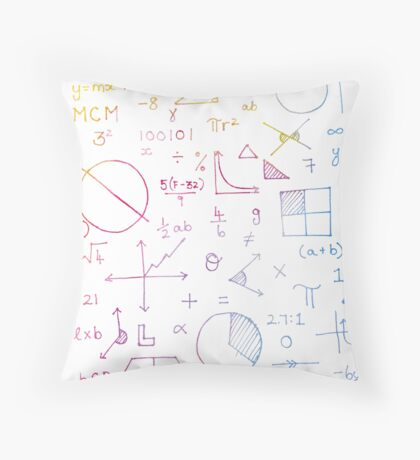 Math formulae (white) Throw Pillow