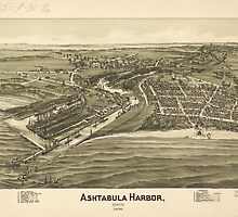 Ashtabula Harbor Map (1896) by alleycatshirts