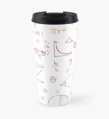 Math formulae (white) Travel Mug