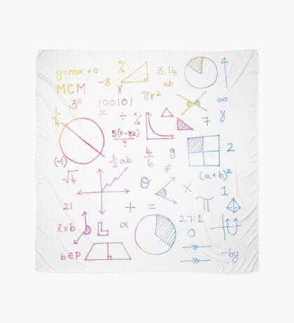 Math formulae (white) Scarf