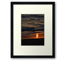 Sunrise Reflection on the Sand Framed Print