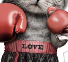 BOXING CAT Sticker