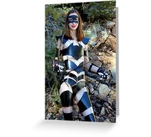 Medieval Catwoman Greeting Card