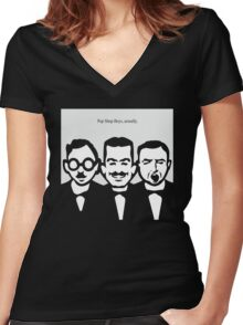 Pep Shop Boys, actually. Women's Fitted V-Neck T-Shirt