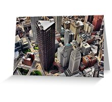 Pittsburgh Aerial - Center City Greeting Card