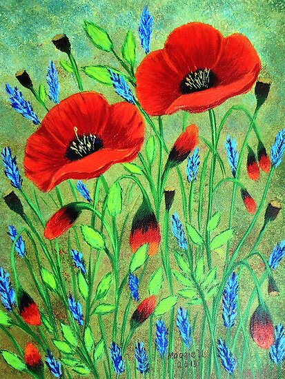 Poppies for you by maggie326