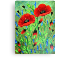 Poppies for you Canvas Print