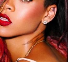 Rihanna Red Sticker