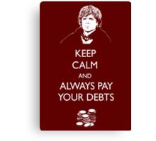 Keep Calm Lannister Canvas Print