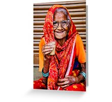 A Lady and Her Chai II Greeting Card