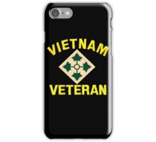 4th Infantry Vietnam Veteran iPhone Case/Skin