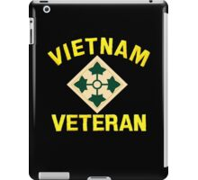 4th Infantry Vietnam Veteran iPad Case/Skin