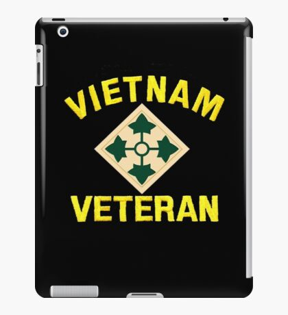 4th Infantry Vietnam Veteran iPad Case/Skin