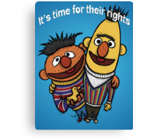 Bert and Ernie Gay Rights Canvas Print