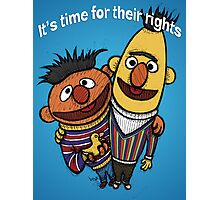 Bert and Ernie Gay Rights Photographic Print