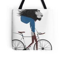 Hipster Lion and his Bicycle Tote Bag