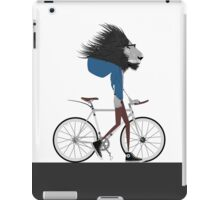 Hipster Lion and his Bicycle iPad Case/Skin