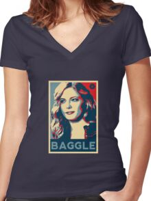 Baggle Women's Fitted V-Neck T-Shirt