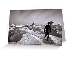 Walking through the White Desert Greeting Card