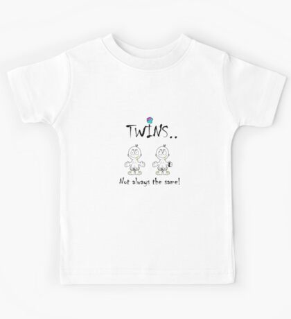 i-brow design: ( i-twins ) Kids Tee