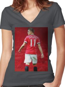 Adnan Januzaj Number 11 Women's Fitted V-Neck T-Shirt