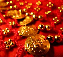 Coin Belt in Red and Gold by Tracy Engle