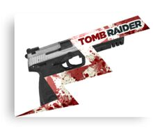 Tomb Raider 2013 'Pistol' Canvas Print